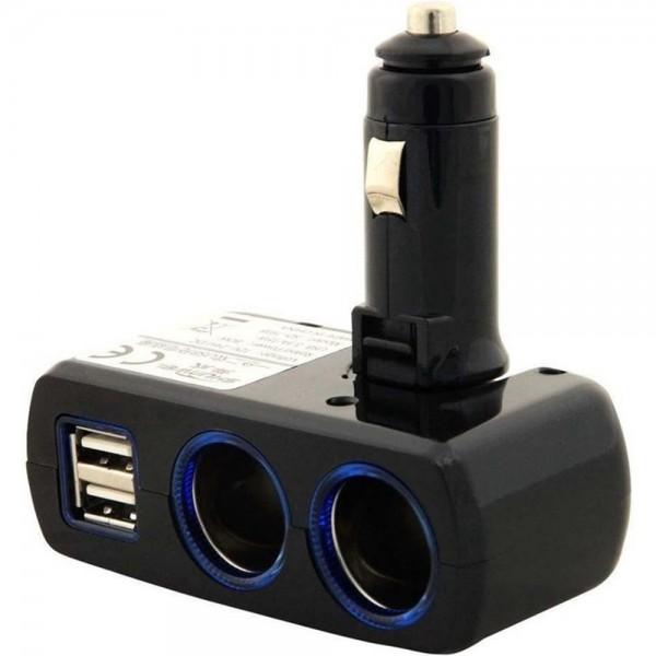 Dual USB & Zigarettenanzünder Adapter Ladeanschluss Ladegerät Ladeadapter