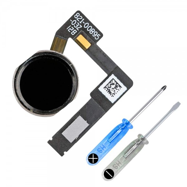 Home Button for iPad Pro 2018 (Black) incl. Flex Cable Connector incl. Toolkit